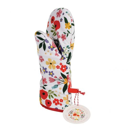 Summer Meadow Design Oven Glove