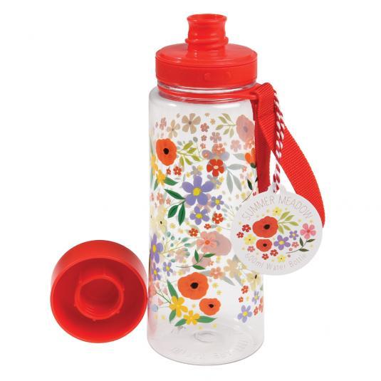 Summer Meadow Flower Print Water Bottle