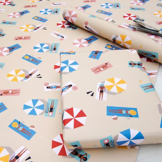 Sunbathers Gift Wrap