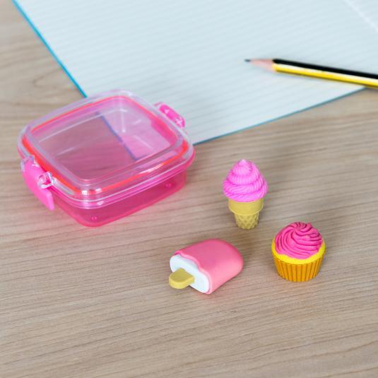 Sweet Treats mini eraser set - set of 3