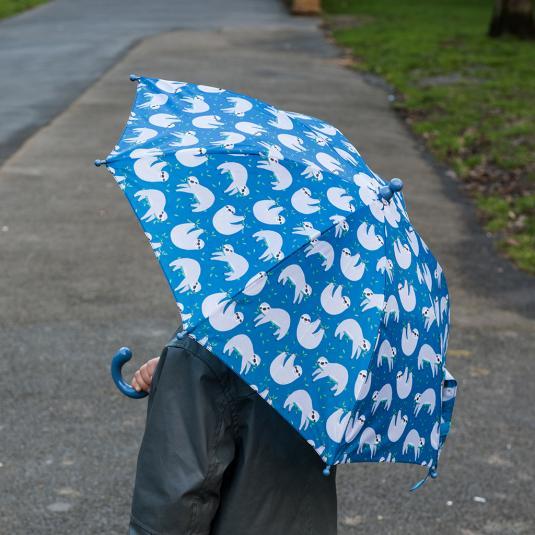 Sydney the Sloth children's spring loaded umbrella