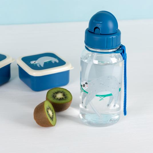 Sydney The Sloth children's water bottle with straw