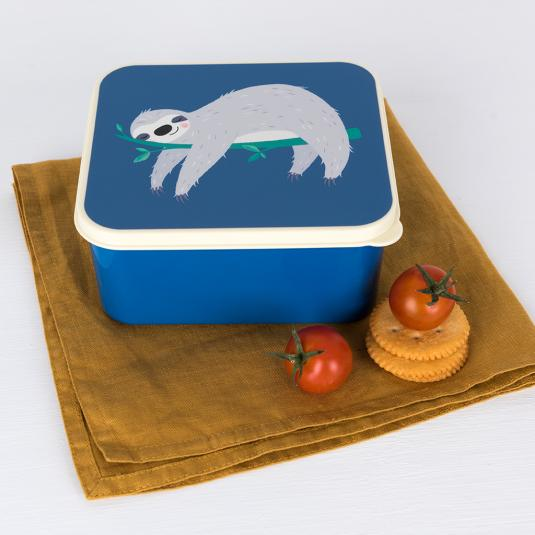 BPA free plastic lunch box with Sydney the Sloth print