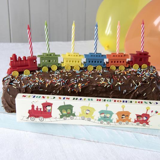 Enjoyable Party Train Candleholder With 6 Candles Rex London Dotcom Tshop Personalised Birthday Cards Epsylily Jamesorg