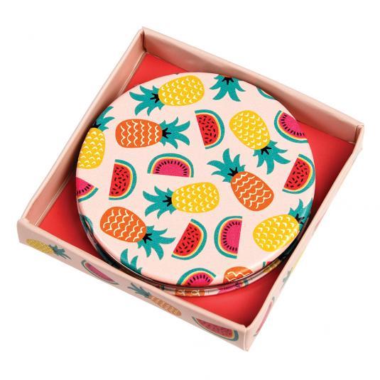 Tropical Fruit Compact Mirror