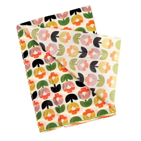 Tulip Bloom Floral Wrapping Tissue Paper