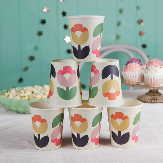 Tulip Bloom Floral Print party Paper Cups