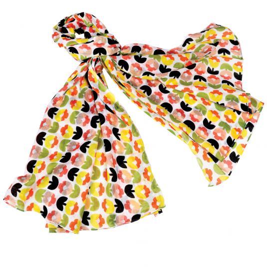 retro floral cotton scarf