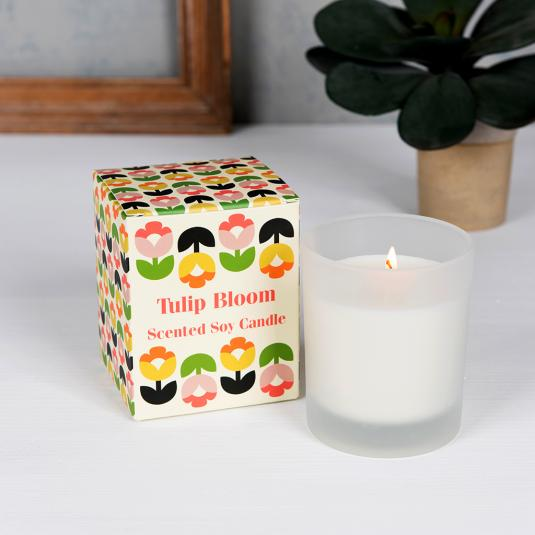 Tulip Bloom Boxed Scented Candle