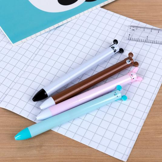 Two in one blue/black ink retractable pens