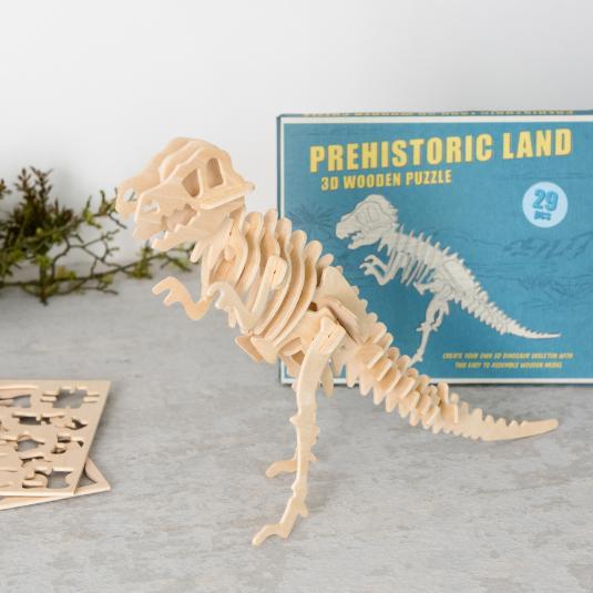Tyrannosaurus rex dinosaur 3d Wooden Puzzle