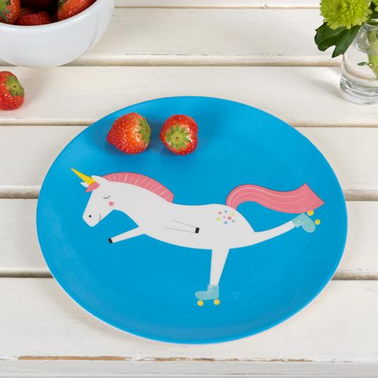 Unicorn Melamine Plate