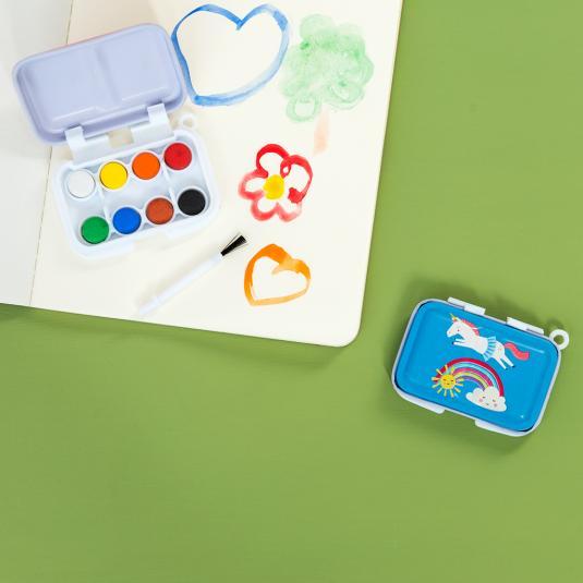 Magical unicorn mini paint set and brush