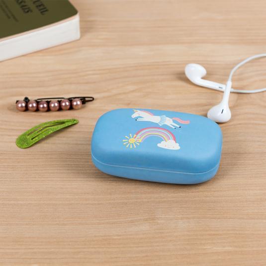 Magical Unicorn printed hard shell mini travel case