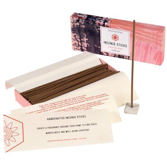 Vanilla Incense Sticks With Ceramic Holder