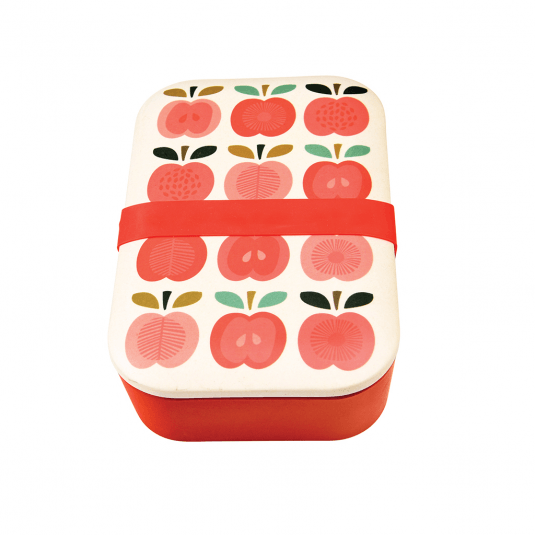Red Apple Bamboo Lunch Box