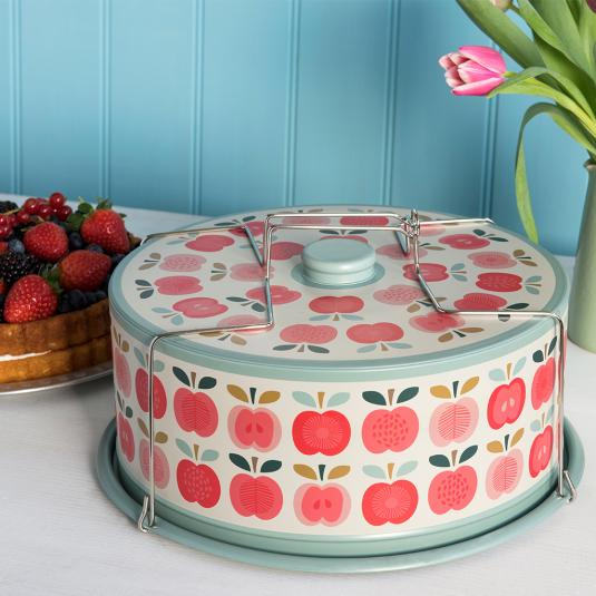 Vintage Apple Design Cake Carrier