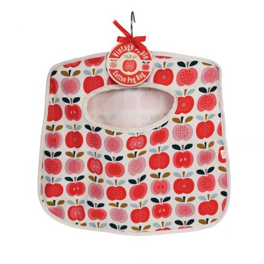 Vintage Apple Design Peg Bag