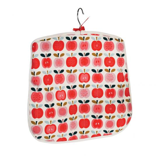 Red Apple Print Cotton Peg Bag