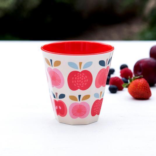 Vintage Apple Design Melamine Cup