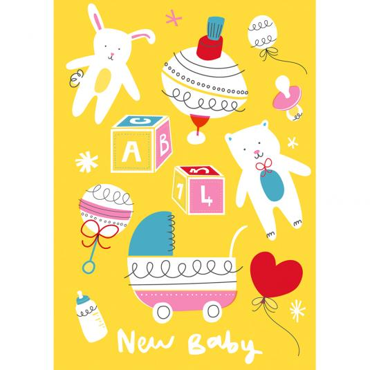 Vintage Baby Large Card