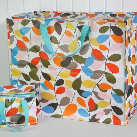 Vintage Ivy Design Jumbo Storage Bag