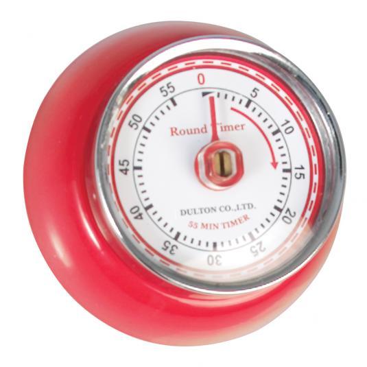 Vintage Magnetic Kitchen Timer Red