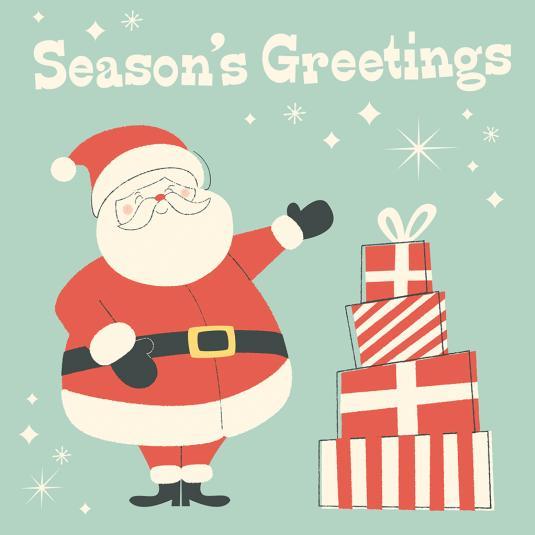 Festive Family Santa Xmas Card