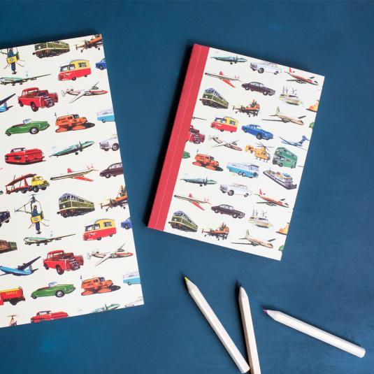 Vintage Transport A6 Notebook