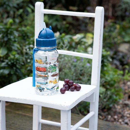 Vintage Transport Design Kids Water Bottle