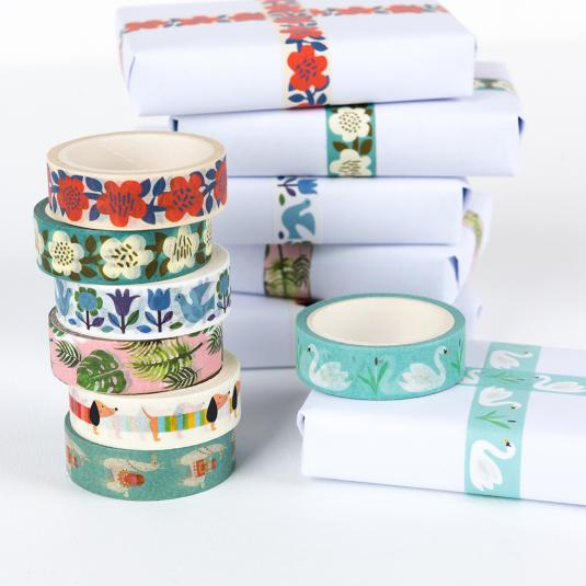 colourful printed craft tape