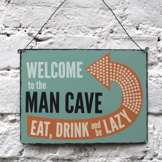 Man Cave Signs Uk : Welcome to the man cave sign rex london at dotcomgiftshop