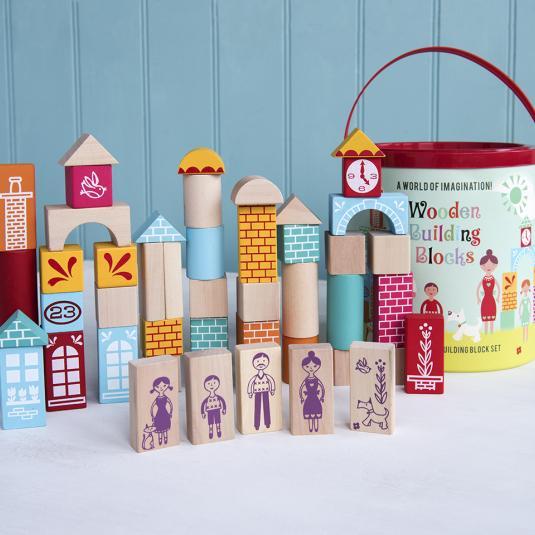 Set Of 50 Wooden Building Blocks