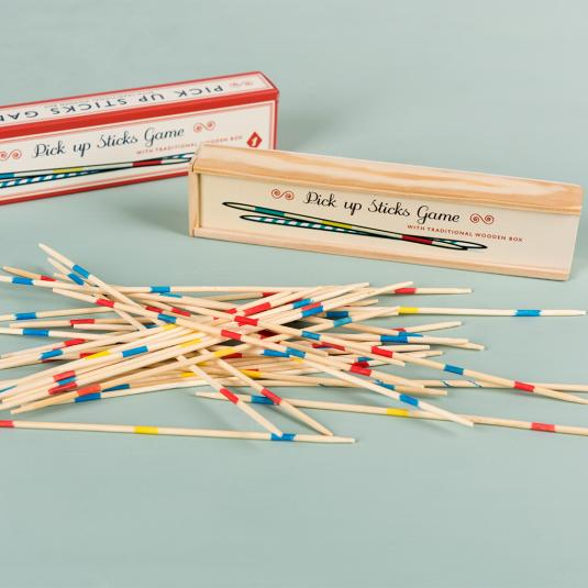 traditional Wooden pick up sticks game
