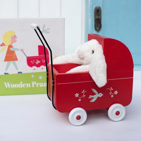 Wooden Pram Toy