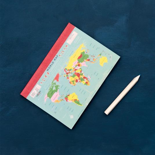 World Map A6 Notebook