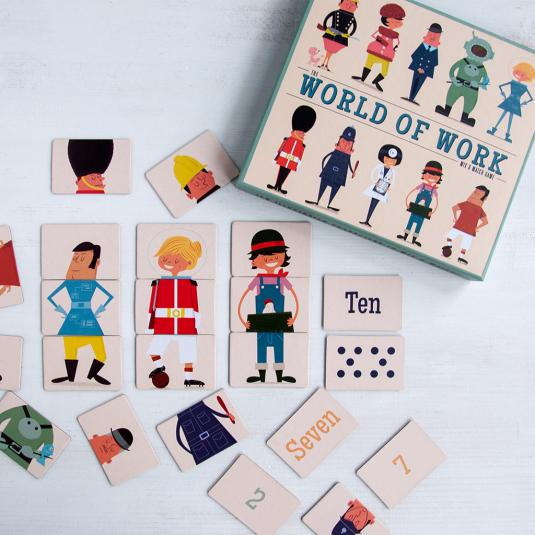 World Of Work Mix And Match educational game