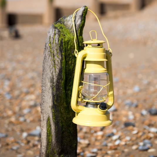 Yellow L.e.d Battery Powered Hurricane Lamp