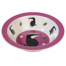 Childrens Purple Melamine Bowl Mr Badger