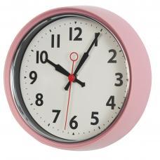 1950's Pink Metal Wall Clock