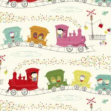 Party Train Design Wrapping Paper