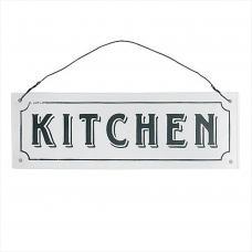 Black and White Kitchen Door Metal Sign