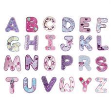 Girls Alphabet Iron On Patches
