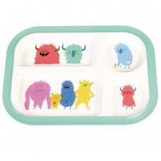 Monsters Of The World kid's melamine dinner Tray