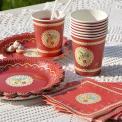 Set Of 20 Red Vintage Doily Cocktail Napkins