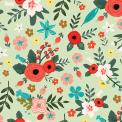 Floral Gift Wrap Poppy Meadow