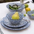 Japanese Style Crockery Set Blue Daisy