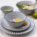 Blue Strip Print Porcelain Tableware