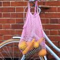 100% organic cotton baby pink string bag