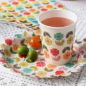 Mid Century Poppy Tea Party Paper Cups